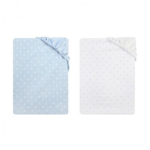 Pack de 2 sábanas de franela para cuna Petit Alo | Las mejores ...