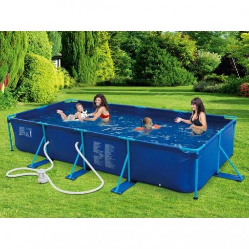 Piscina rectangular tubular 213x457 cm puka puka las for Ofertas piscinas desmontables rectangulares