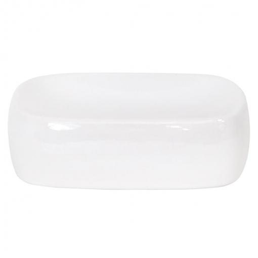 Jabonera de baño de la gama Classic 9,5cm MSV - Blanco
