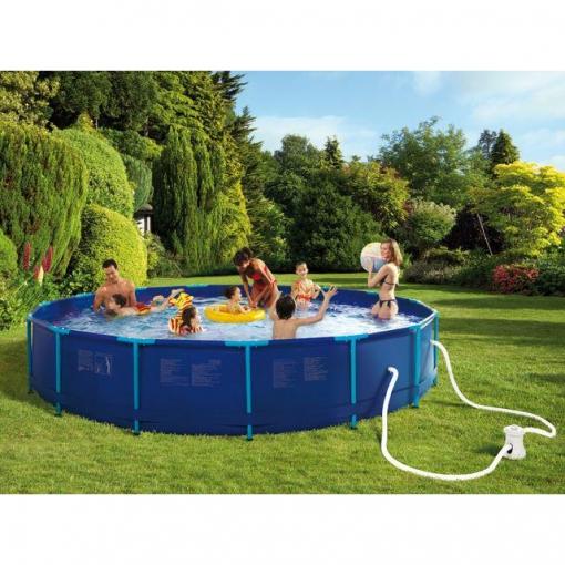 Piscina tubular redonda 457x83 hawai las mejores ofertas for Suelo piscina carrefour