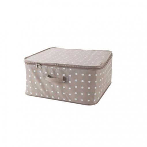 Caja Almacenaje con Tapa- Beige | Las mejores ofertas de Carrefour