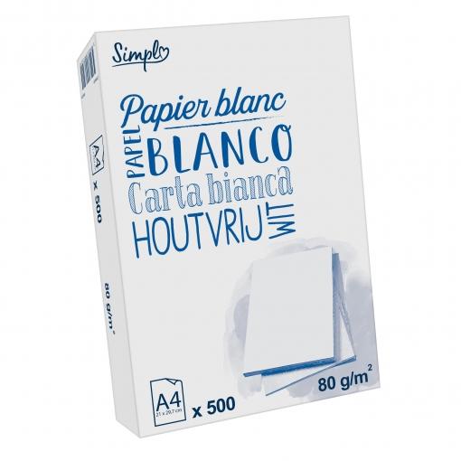 Paquete 500 Hojas 80 gr DIN A4