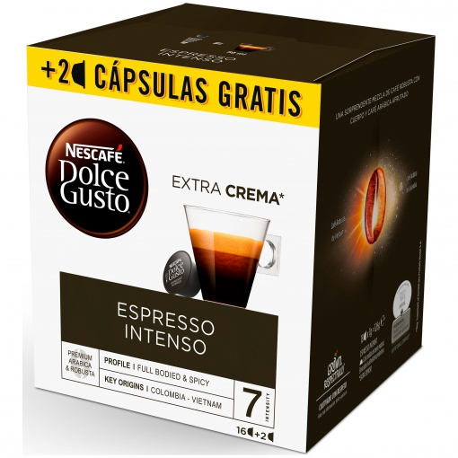 2d75d63a8 Café Espresso Intenso Nescafe Dolce Gusto 16 Cápsulas