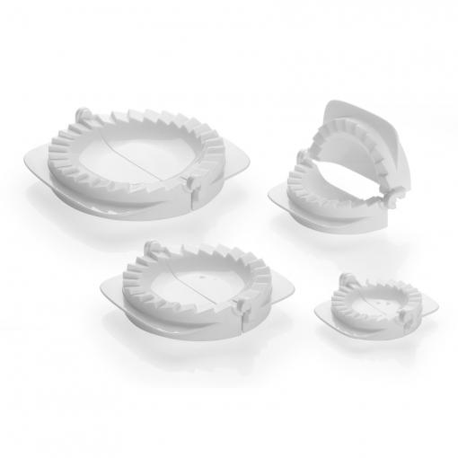 Molde para empanadillas de Plastico TESCOMA Delicia  12cm - Blanco