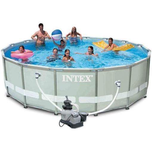 Piscina ultra frame 488x122cm las mejores ofertas de for Suelo piscina carrefour