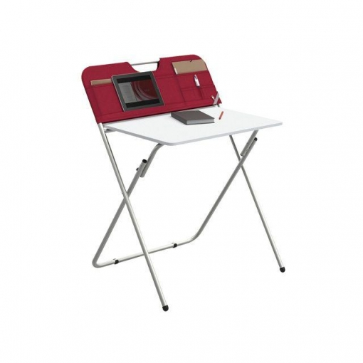 Mesa plegable de ordenador rojo las mejores ofertas de for Mesa de playa plegable