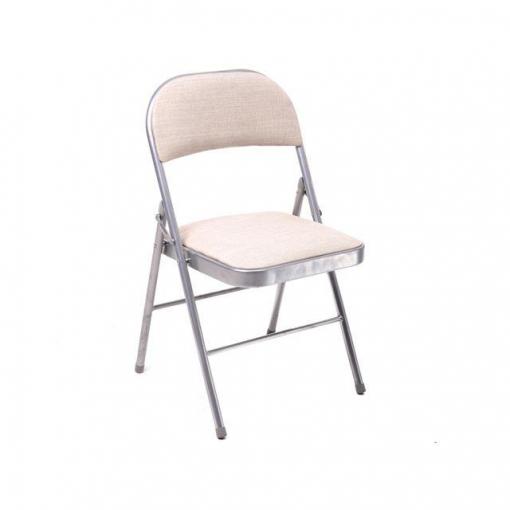 Silla plegable en textil beige las mejores ofertas de for Ofertas de sillas de oficina en carrefour