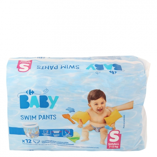 c9c5e2f19 Pañales Bañador Carrefour Baby Small Talla 4 (7-13 kg) 12 uds