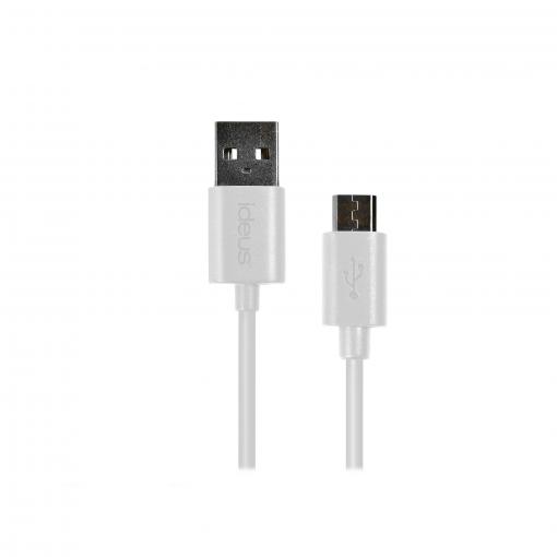 Cable Micro Usb Ideus - Blanco | Las mejores ofertas de Carrefour