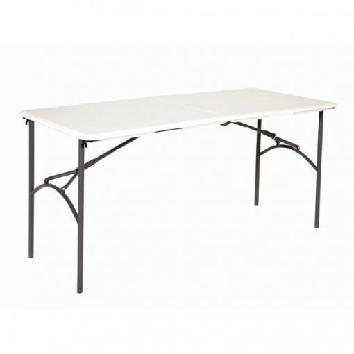 Mesa plegable de hdpe y estructura de acero 152x70x74 cm - Mesa plegable maleta carrefour ...