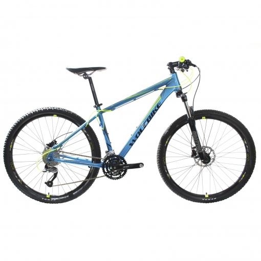 Bicicleta Wolfbike MTB 29'' Claw Pro Talla 17 Azul con Suspensión Sontour Doblemando Shimano Cambio Shimano Altus 9V
