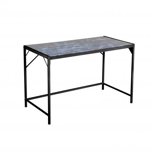 Mesa estudio metal y cristal tobim 120x60x75 cm negro las mejores ofertas de carrefour - Mesa estudio cristal ...