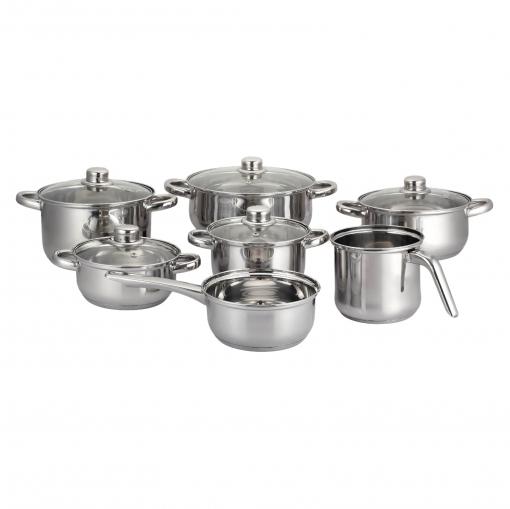 Bateria de cocina de acero aken 12 piezas inox las mejores ofertas de carrefour - Bateria de cocina solingen 12 piezas ...
