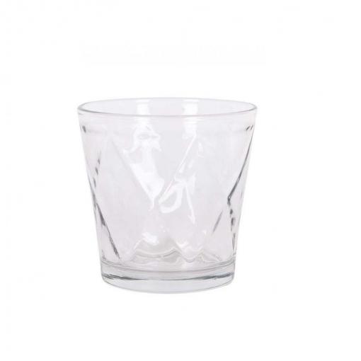 Set de 6 Vaso de Vidrio HOME STYLE Lithe 6pz - Transparente