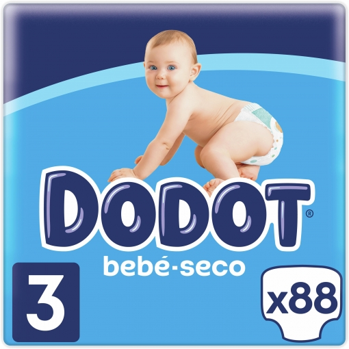Pañales Dodot T3 (6kg-10kg.) 96 ud.
