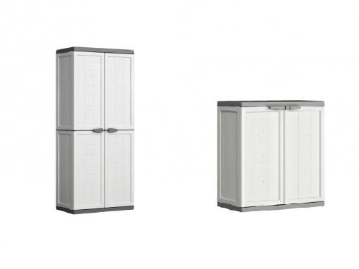 Lote de armario alto 2 puertas armario bajo de resina for Armarios de resina baratos carrefour