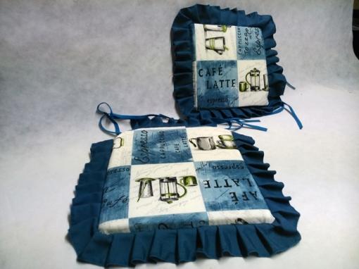 Cojin Capuchino-vte - Color - Azul-1111, Tamaño - Silla