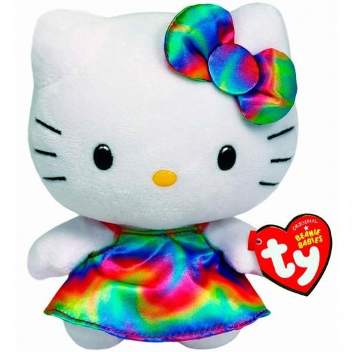 Peluche Hello Kitty Ty Beanie Babies Arcoiris 15cm  b8cdf2daeb