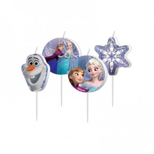 Set De 4 Velas De Frozen