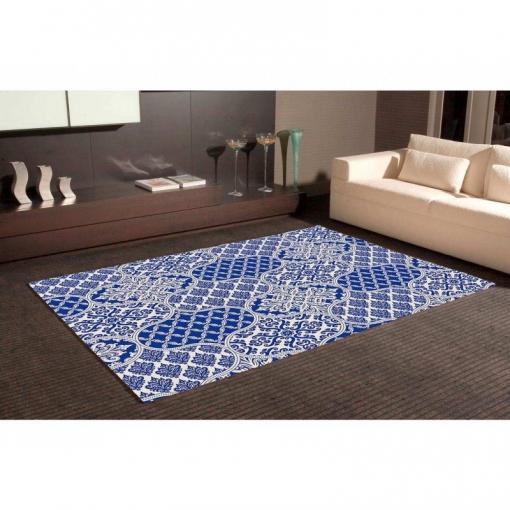 Alfombra Pvc Arte Ornamental Azul 95 X 120 Cm con Ofertas en