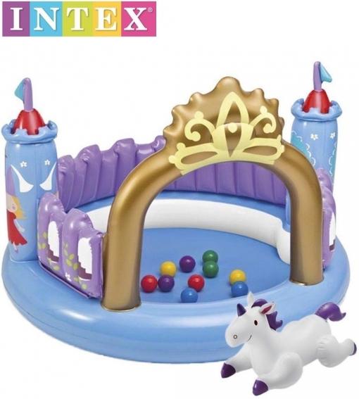 Centro De Juegos Castillo Magico Hinchable Piscina Intex 10 Bolas