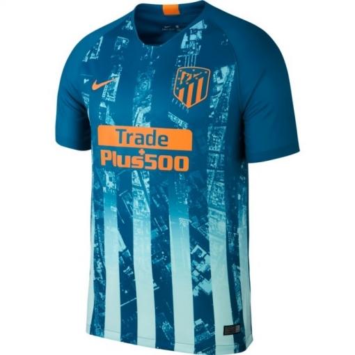 Camiseta Nike Atletico De Madrid Tercera 18 19 Verde naranja Adulto ... 82fbfed78d1