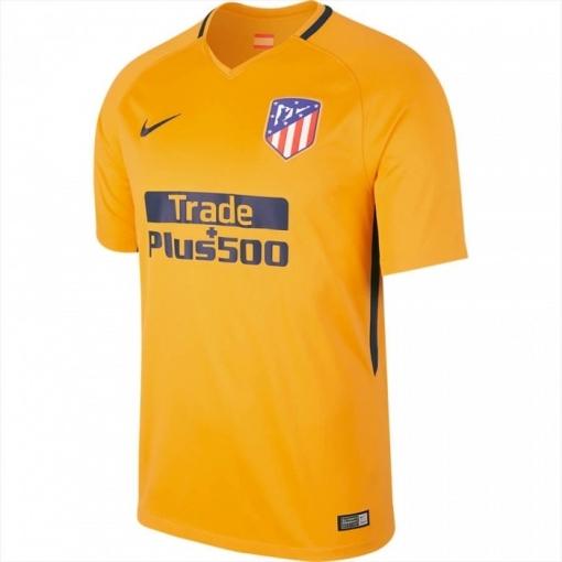 Camiseta Fútbol Atlético De Madrid 2ª Amarilla 2017 18  dfded713c29
