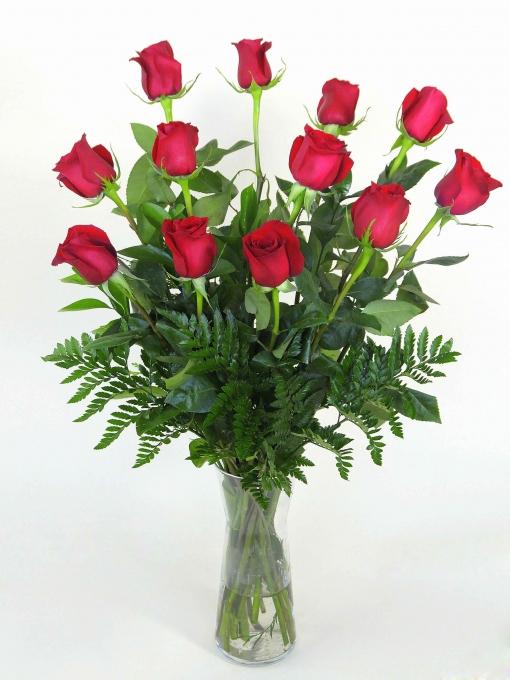 3be32af59b078 Ramo De 12 Rosas Rojas Tallo Largo