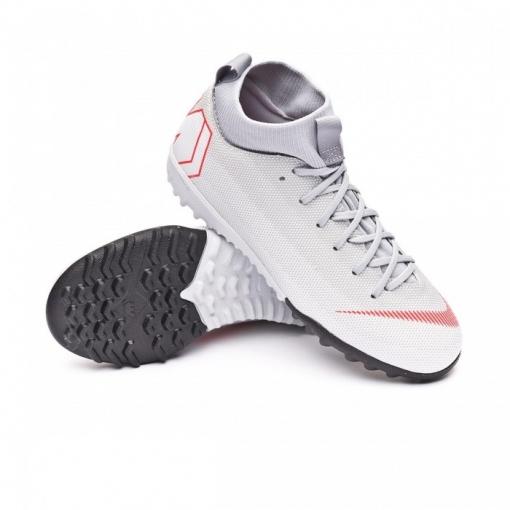 Botas De Fútbol Nike Mercurial Superfly 6 Raised Suela Turf Gris Niño 007e17073e4e7