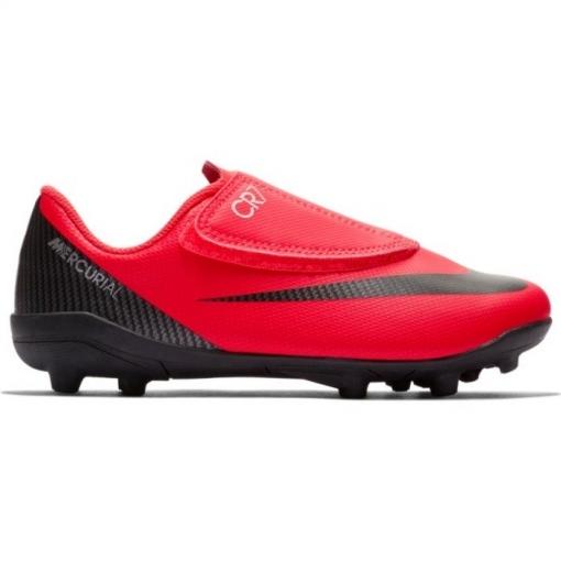 Botas De Fútbol Nike Cr7 Mercurial Vapor 12 Club Suela Mg Con Velcro Roja  Niño 18c34265ca2dd