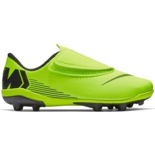 competitive price e2a70 ec351 Botas De Fútbol Nike Mercurial Vapor Series Suela Mg Amarillo  Negro Niño  Con Velcro