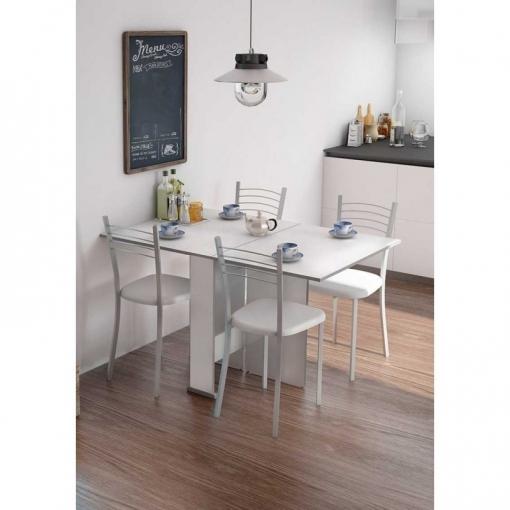 Mesa Cocina / Comedor / Salón / Oficina Extensible 2 Alas Blanca ...