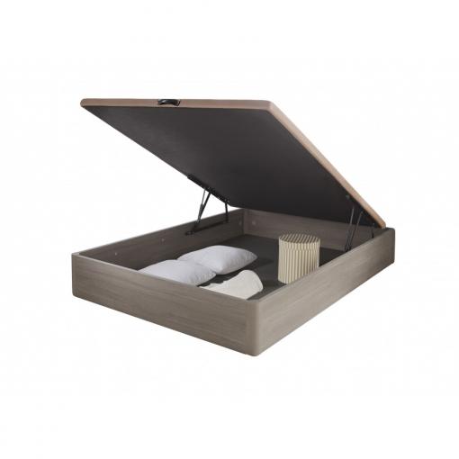 Canapé Abatible De Madera Tapa 3d Transpirable Color Roble Vintage