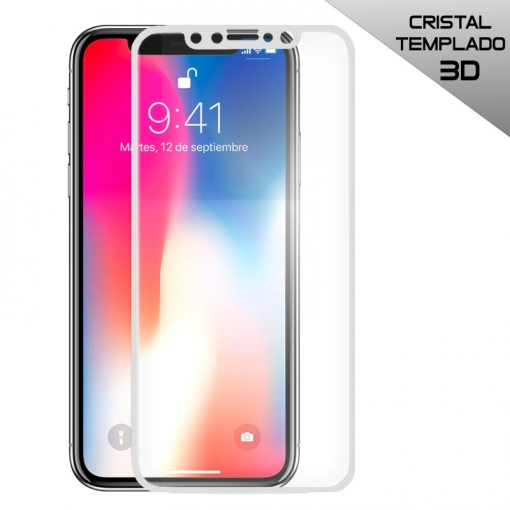 b6591d599ea Protector De Pantalla Cristal Templado Iphone X ( 9h 2.5d Pro+ ) Con Caja Y  Toallitas - Completo Curvo 3d Blanco con Ofertas en Carrefour | Las mejores  ...