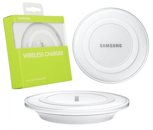 Cargador Inalambrico Samsung Qi Original ( Ep pg920ib Blanco ) S6 S7 S8 S9 Edge Plus Note 8 Galaxy Gear