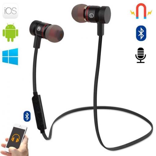 7ab269f6b1f Auriculares Bluetooth Manos Libres Magneticos Bt Para Windows Android Ios  Negros con Ofertas en Carrefour | Las mejores ofertas de Carrefour
