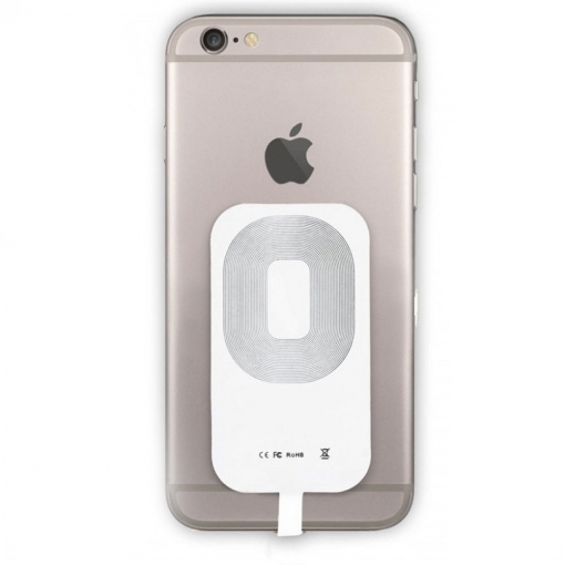 Receptor Adaptador Qi Carga Inalámbrica Lightning Iphone 5 5s 5c 6 6s 7 Plus