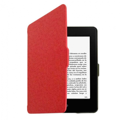 Funda Libro Con Tapa Rigida Para Amazon Kindle Paperwhite Piel Rojo Iman Eco