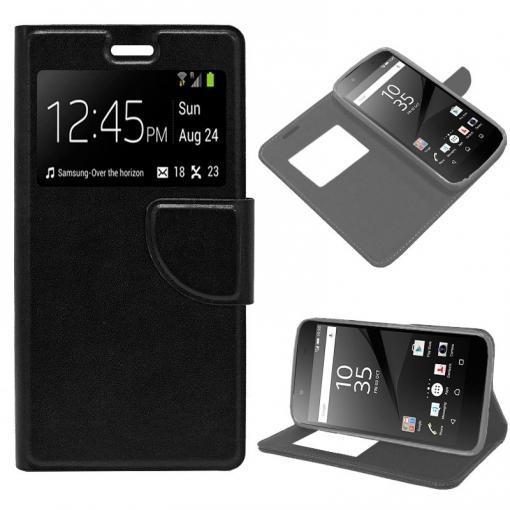 66c509224eb Cool® - Funda Flip Cover View Sony Xperia Z5 ( Negra ) Carcasa Con Ventana  Tapa Libro Soporte