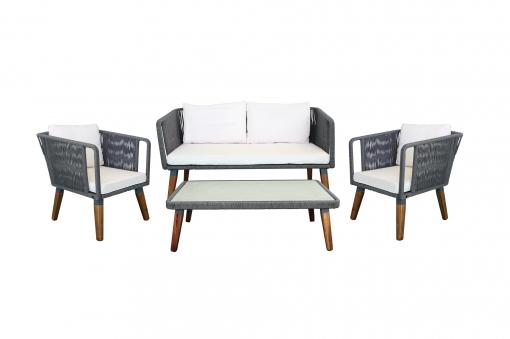 Conjunto Melbourne Color Gris Antracita , Muebles De Jardin Y Exterior – Kiefergarden
