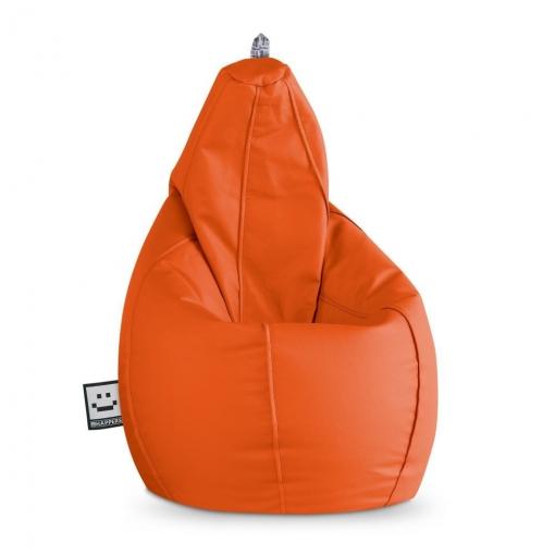 Puff Pera Polipiel Indoor Naranja Happers Xl