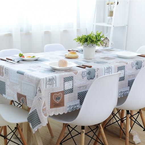 Mantel Para Mesa De Cocina O Salón, Lavable, Diseño De Hojas, Pvc ...