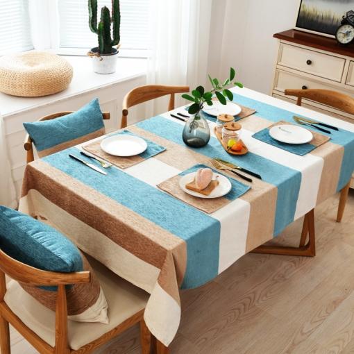 Mantel Para Mesa De Cocina O Salón, Lavable, Diseño De Hojas, Chenille,  Diferentes Tamaños, 90 X 135 Cm
