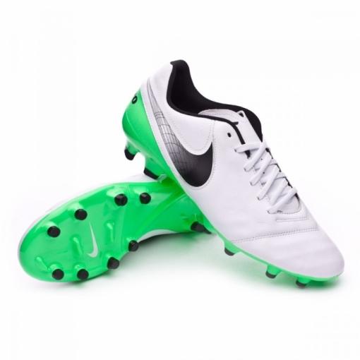 00c4da5a84681 Botas Nike Tiempo Genio Ii Blanco verde Suela Ag-pro