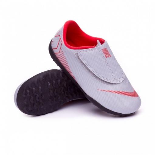 89bc007fac63d Botas Futbol Nike Cr7 Jr. Vapor 12 Club Suela 12 Club Gris Suela Multitaco  Niño