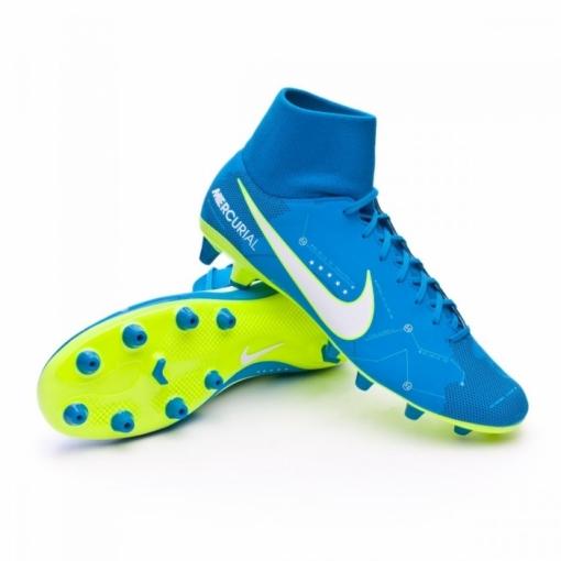 buy online 1de4c 760a0 Botas Fútbol Nike Mercurial Victory 6 Df Azul Con Calcetín Suela Ag Neymar