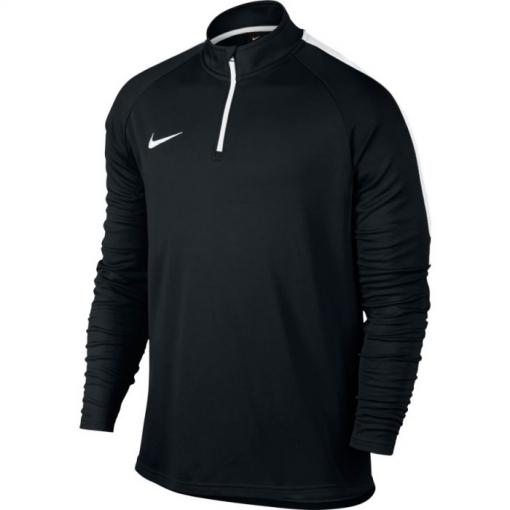 Sudadera Nike Dry Academy Negro blanco Adulto  1aab6ed42d8fb
