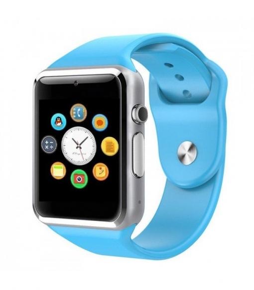 Smartwatch Bluetooth Multi-función Con Cámara Integrada, Altavoz, Micrófono Y Slot Para Tarjeta Sim Color Azul