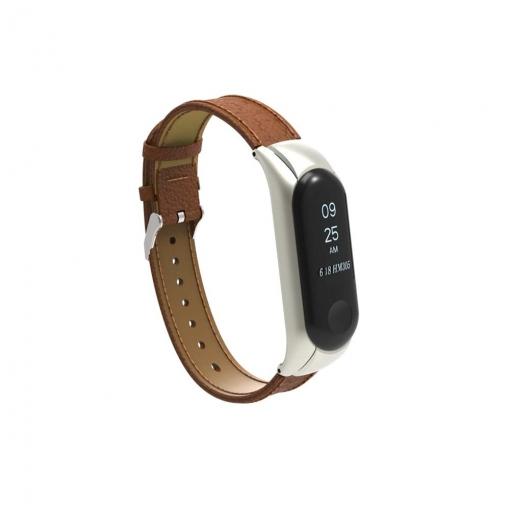 91c2d35aff4 Theoutlettablet® Xiaomi Mi Band 3 Correa De Piel Pulsera Recambio Para  Pulsera Reloj Mi Band 3 Monitor De Actividad Color Marrón con Ofertas en  Carrefour ...