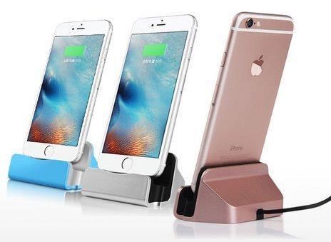 Theoutlettablet® Dock Cargadorsincronización Para Smartphone Apple Iphone 55seiphone 66plusiphone 6s6d Plusiphone 77 Plusiphone 8 Con